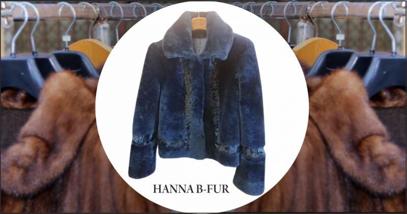 offerta vendita giacchina in agnello blu casale monferrato - occasione negozio pellicce artigianali alessandria