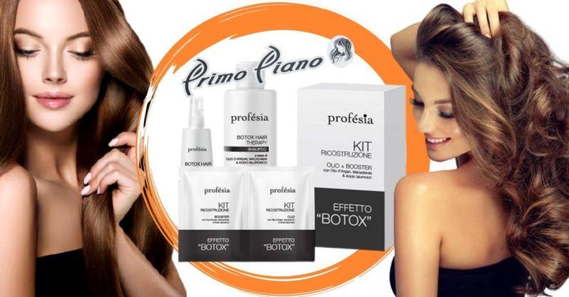 PRIMO PIANO - Offerta vendita online kit ricostruzione capelli effetto botox Profesia
